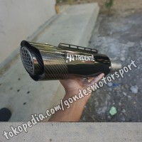 Knalpot Tridente F20 3 Suara 250 cc 1 Cylinder Full System Stainless