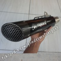 Knalpot Tridente F21 600cc 2 Cylinder Full System Stainless