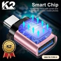 OTG USB TYPE C K2 PREMIUM QUALITY SAMSUNG XIAOMI OPPO VIVO REALME