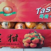 Buah Jeruk Imlek Ponkan Ponkam Mandarin Gift Box Pack