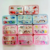 Lunch Box Mini 3 Sekat | Kotak Makan (Anti Tumpah)