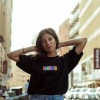 Baju Kaos Tshirt Glow In The Dark Terbaru Hitam Merek Upstain Wear