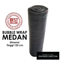 Bubble Wrap Medan HITAM 125 cm (Eceran / Grosir) Plastik Gelembung