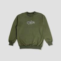 Sweater Glow In The Dark Terbaru Warna Hijau Army Merek Upstain