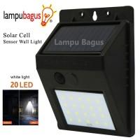 Lampu Dinding Sensor Tenaga Surya Solar Cell 20 Led Outdoor