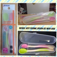 Richell ND Soft Feeding Spoon Set With Case - babyonboard