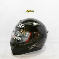 helm KYT falcon solid polos hitam gloss not vendetta nfr nhk zeus