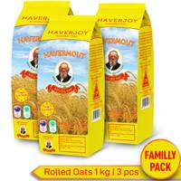 Haverjoy Family Pack Rolled Oats 1kg - 3 Pcs