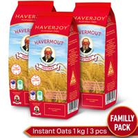 Haverjoy Family Pack Instant Oats 1kg - 3 Pcs