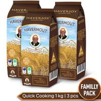 [GOSEND] Haverjoy Family Pack Quick Cooking Oats 1kg - 3 Pcs