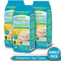 Haverjoy Family Pack Havermix Rolled Oats & Barley Flakes 1kg - 3pcs