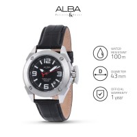 Jam Tangan Pria Alba Analog Leather Axhg37 Original