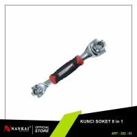 Kunci Socket 8 in 1 / Kunci Socket Serbaguna Nankai
