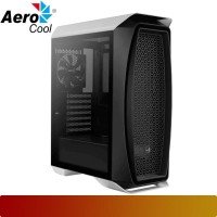 AeroCool - Aero One White + 3 Frost Fan Tempered Glass Case