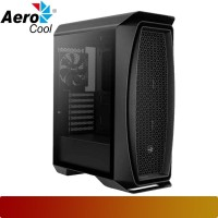 AeroCool - Aero One Black + 3 Frost Fan Tempered Glass Case