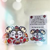 DWS Pop Up Model Box Kado Imlek Hadiah Kartu Ucapan Doodle Mouse 2020