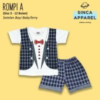 Setelan Baju Anak Bayi Baby Terry (Set Kaos Celana) - Rompi A