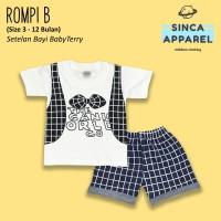 Setelan Baju Anak Bayi Baby Terry (Set Kaos Celana) - Rompi B