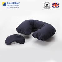 Travel Blue Bantal Leher Inflatable Travel Pillow Eyemask Set TB223