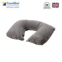 Travel Blue Bantal Leher Inflatable Travel Neck Pillow - Grey TB220