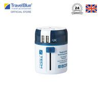 Travel Blue Twist & Slide Worldwide Travel Adaptor With Dual USB TB272
