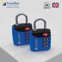 Travel Blue 2 x Gembok Koper Combi TSA Lock New TB039