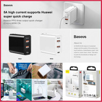 Charger BASEUS 60W 2 USB Port PD Fast Charging Wall Travel Charger