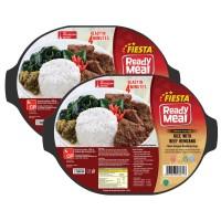 FIESTA READY MEAL PAKET BEEF RENDANG W/RICE S/BOX 320 GR (6PCS)