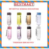 MY BOTTLE SQUARE WARNA SEGI KOTAK / BOTOL AIR MINUM PETAK
