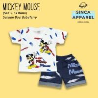 Setelan Baju Anak Bayi Baby Terry (Set Kaos Celana) - Mickey Mouse