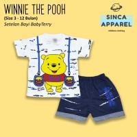 Setelan Baju Anak Bayi Baby Terry (Set Kaos Celana) - Winnie The Pooh