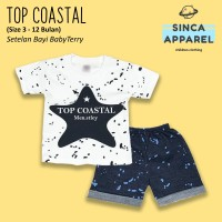 Setelan Baju Anak Bayi Baby Terry (Set Kaos Celana) - Top Coastal