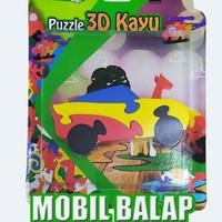 puzzle satuan 3d mobil balap