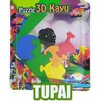 puzzle satuan 3d tupai