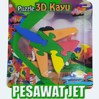 puzzle satuan 3d pesawat jet