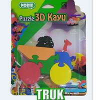 puzzle satuan 3d truk