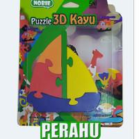 puzzle satuan 3d perahu