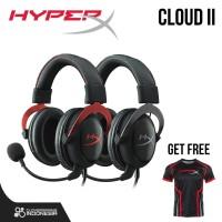 HyperX Cloud II - Black Red || Headset Gaming