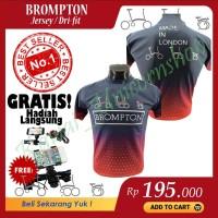 Kaos Brompton Jersey Dri Fit Bersepeda Lipat Olahraga