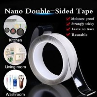 Nano Magic Double Isolasi Dinding Tembok HP Lem 3 cm Grip Tape