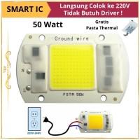 LED COB AC 220V 50W WW HPL - Lampu Sorot Tanpa Driver Cahaya Kuning