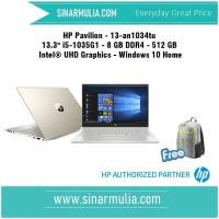 "HP Pavilion 13-an1034tu 13.3"" i5-1035G1 - 8 GB DDR4 - 512 GB WIN 10"