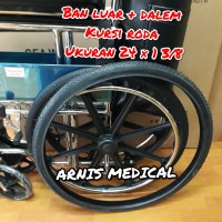 "Ban kursi roda ukuran "" 24 × 1 3/8 original "" sparepart kursi roda"