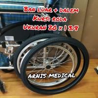 "Ban kursi roda ukuran "" 20 × 1 3/8 original "" sparepart kursi roda"