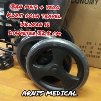 "Ban kursi roda travel "" velg + ban mati original ""sparepart kursi roda"
