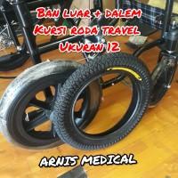 "Ban kursi roda travel "" Ukuran 12 "",sparepart kursi roda"