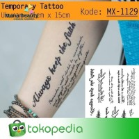 QC-809 TATO TEMPORER Temporary Tatoo sticker tulisan Word love thumbnail