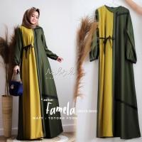 Baju Wanita Maika Dress Gold Grosir Pakaian Hijab Wanita Murah