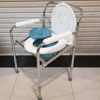 kursi bab tanpa roda, Commode chair, bisa di lipat