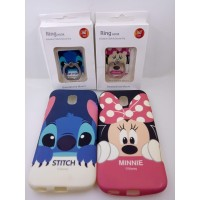 SALE Softcase Cartoon Face Ring SAMSUNG J3 PRO